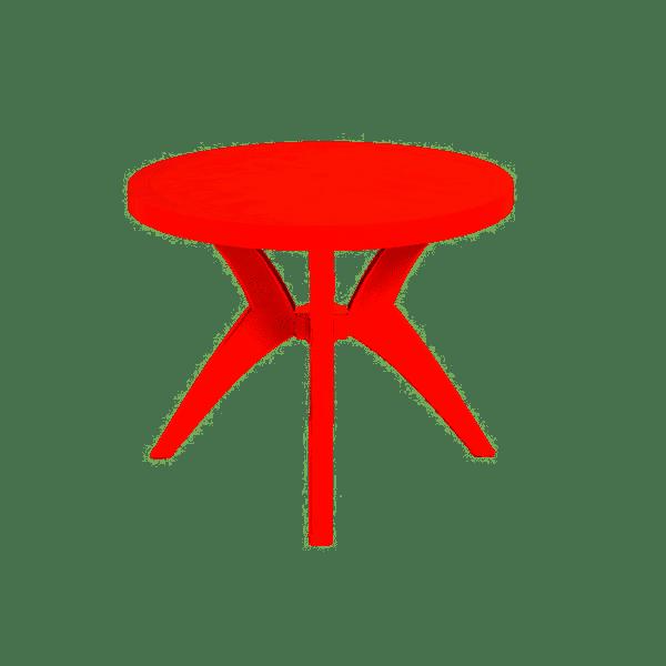 MESA FORTE PLASTICO RED EM X DELUXE VERMELHA
