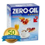 Adoçante Zero-Cal em pó com 50 sachês