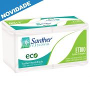 Papel Toalha Interfolha 3 Dobras c/2400 folhas Santher ETI00