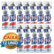 KIT 12 Unidades - Álcool 70 Teor em Spray 300ml - Domline