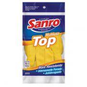 Luva para Limpeza Sanro Top Amarela Forrada - Media