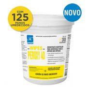Pano Umedecido com Desinfetante Peroxy 4D c/ 125 panos