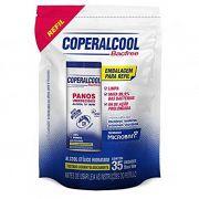 Refil de Pano Umedecido com Álcool Teor 70º - c/35 panos Coperalcool Bacfree