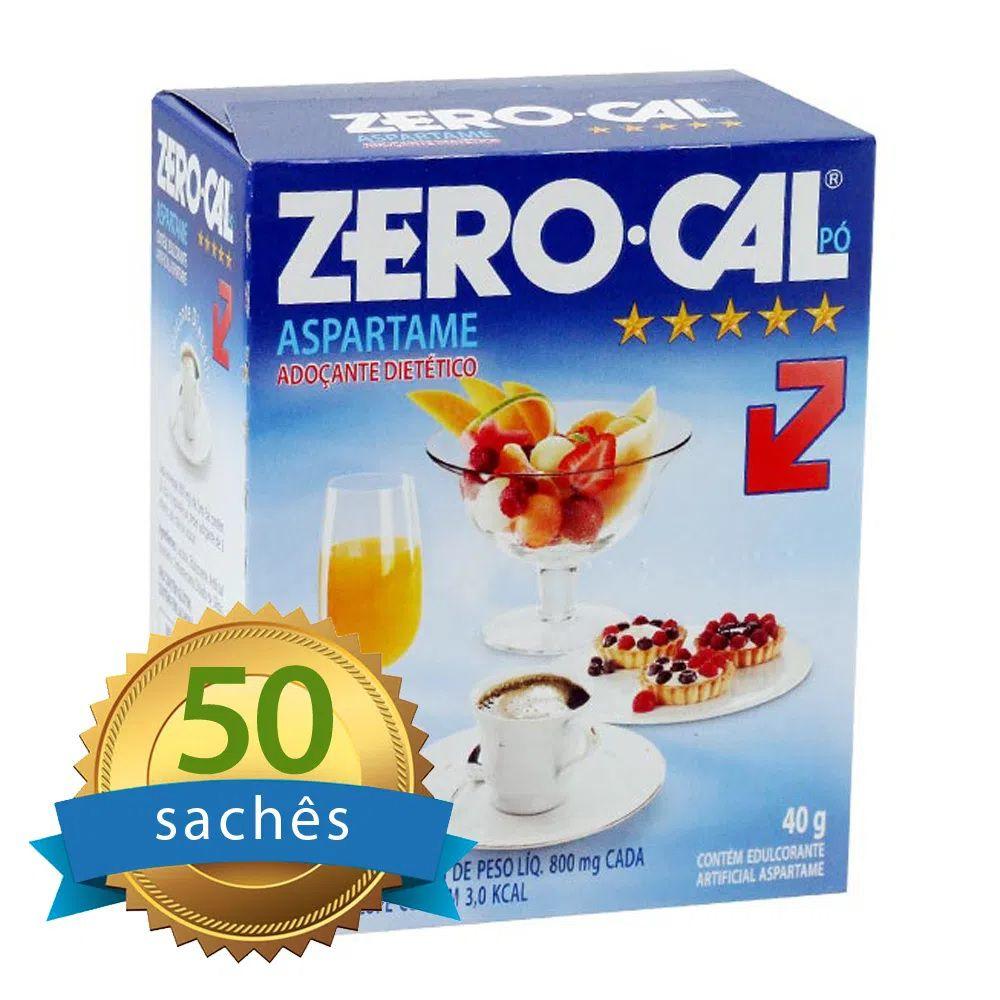 Adoçante Zero-Cal em pó com 50 sachês  - Higinet