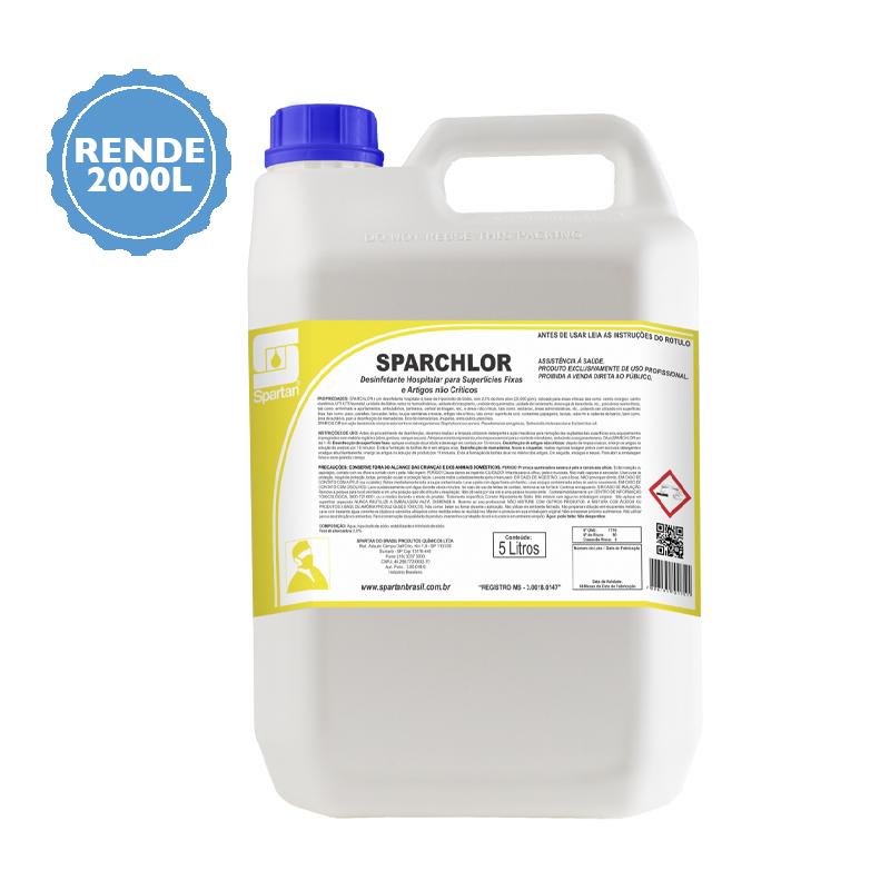 Água Sanitária Sem Cheiro Forte 5 Litros - Sparchlor  - Higinet