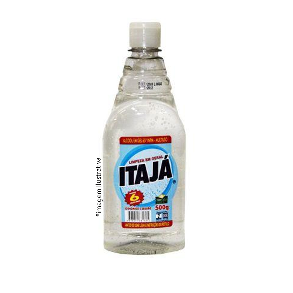 Alcool Gel Itaja Teor 70° Frasco 500ml  - Higinet