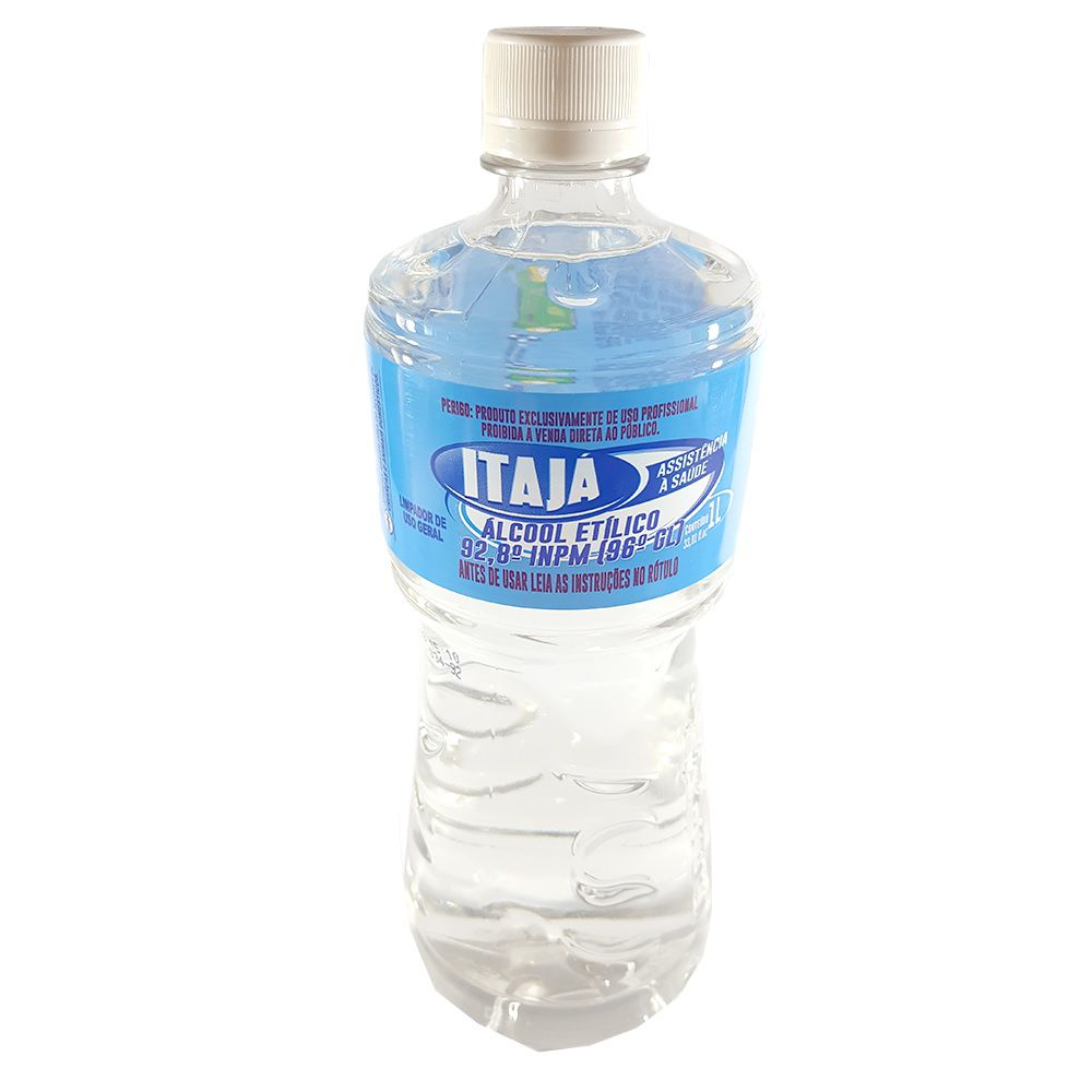 Alcool Itaja Teor 92° Frasco 1 Litro  - Higinet