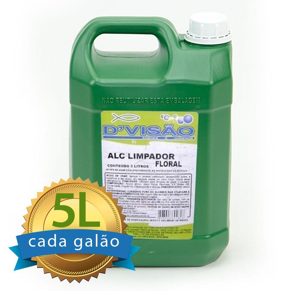 Alcool Perfumado Floral Galão 5 Litros  - Higinet