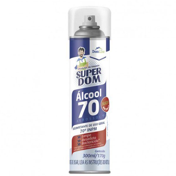 Álcool Teor 70º em SPRAY 300ml  - Higinet