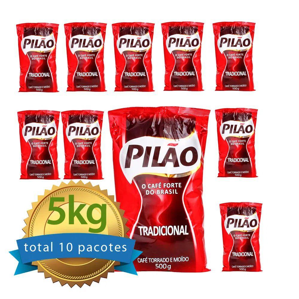 Café Pilão Almofada fardo com 10 pacotes de 500g  - Higinet