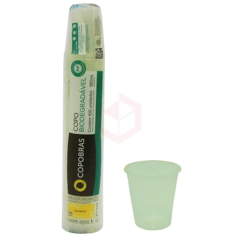 Copo Biodegradável Copobras 180ml c/100  - Higinet