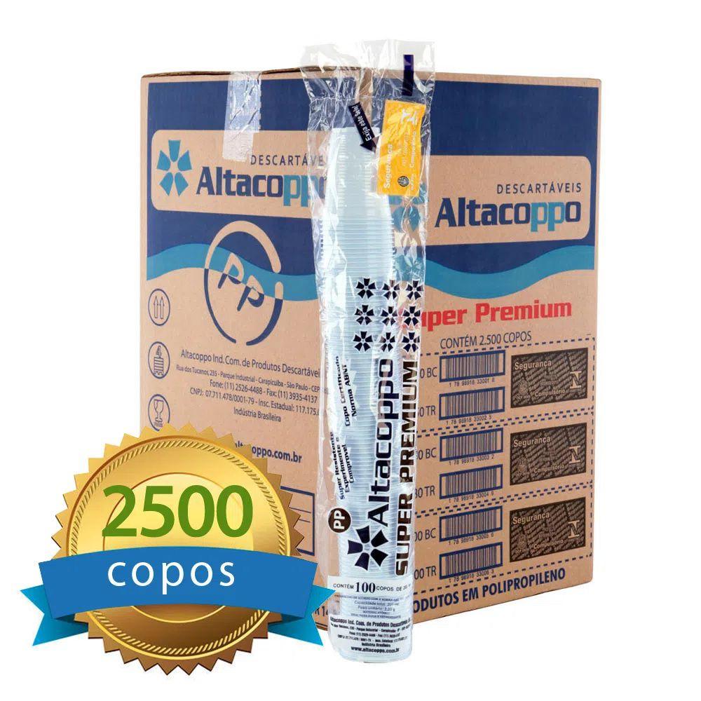Copo Descartável Altacoppo Branco 180ml c/2500 unidades  - Higinet