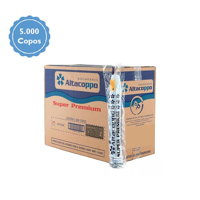 Copo descartável Altacoppo Branco 50ml c/5000 unidades  - Higinet