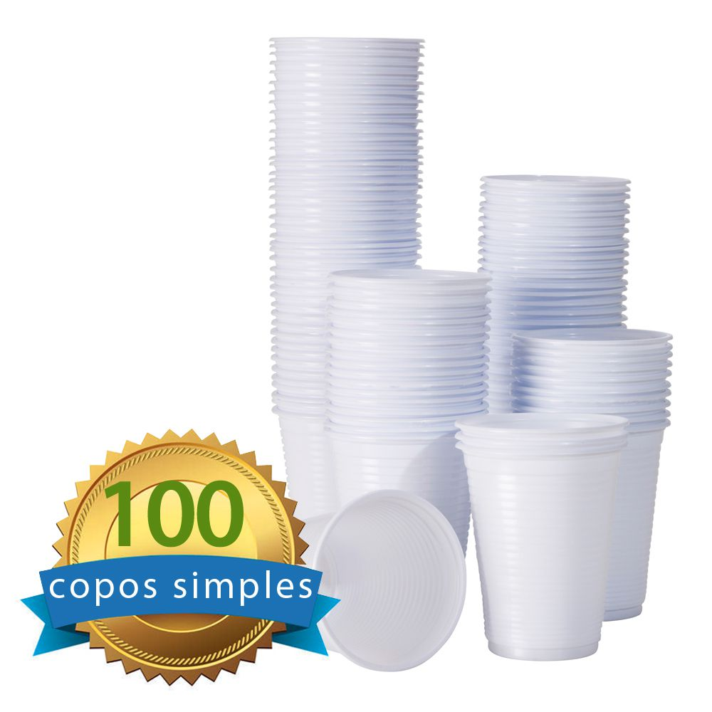 Copo Descartável Ecocopo Branco 180ml c/100 unidades  - Higinet