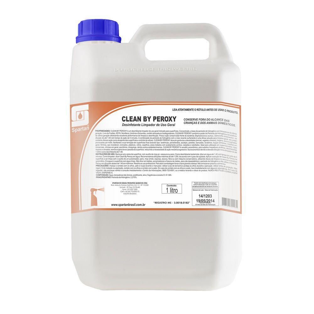 Desinfetante e Limpador Geral Clean By Peroxy 5 Litros  - Higinet