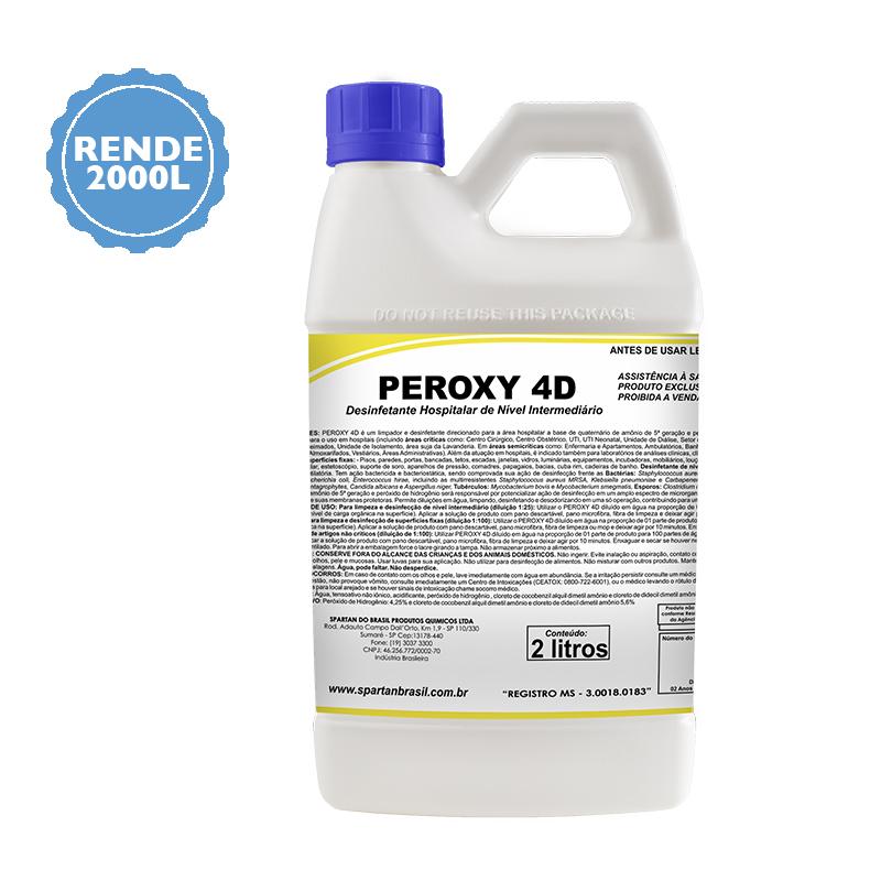 Desinfetante Nível Hospitalar Peroxy 4D 2 Litros  - Higinet