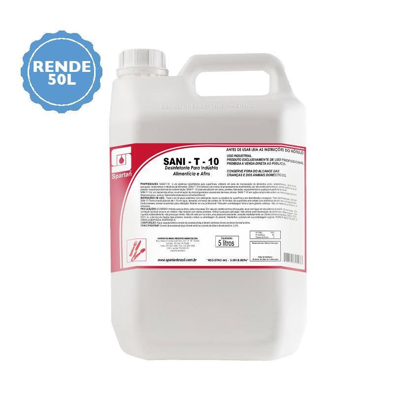 Desinfetante Sanit - T - 10 Spartan  - Higinet
