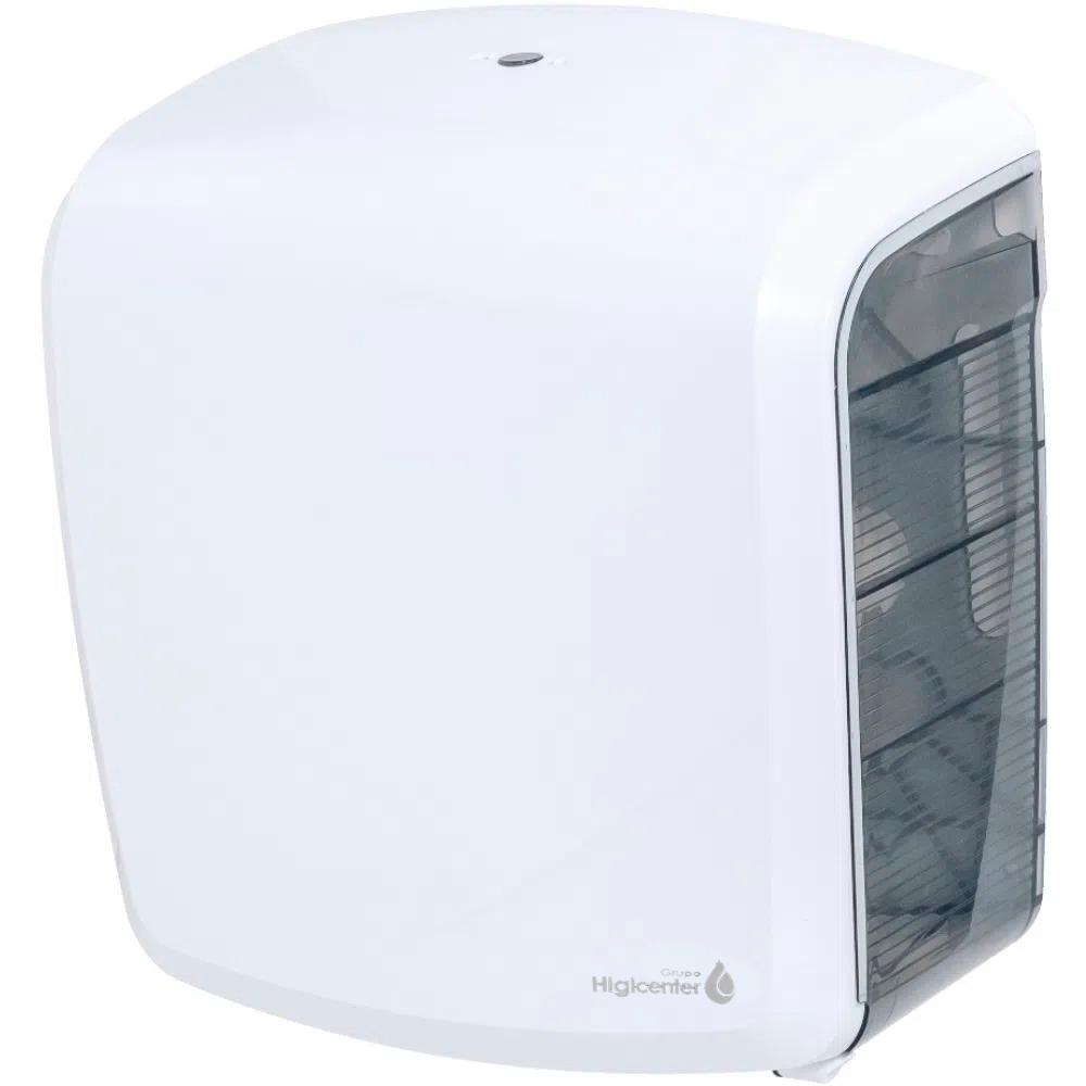 Dispenser Higiênico Rolo Branco/Fumê Elisa  - Higinet