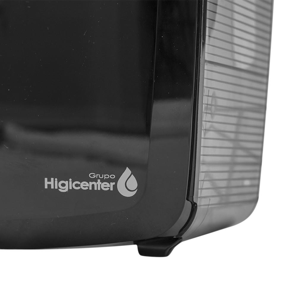 Dispenser Higiênico Rolo Preto/Fumê Elisa  - Higinet