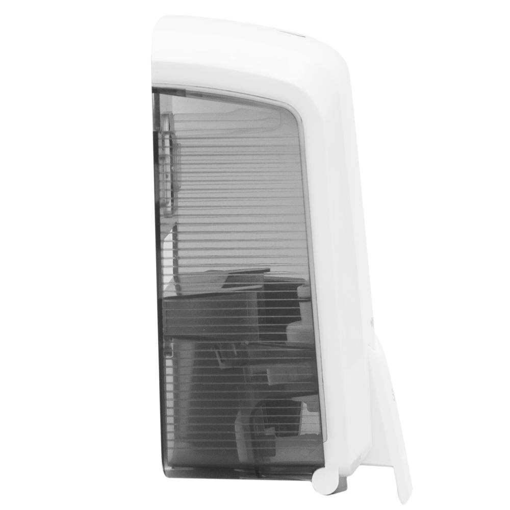 Dispenser Mini Saboneteira Branco/Fumê Elisa  - Higinet