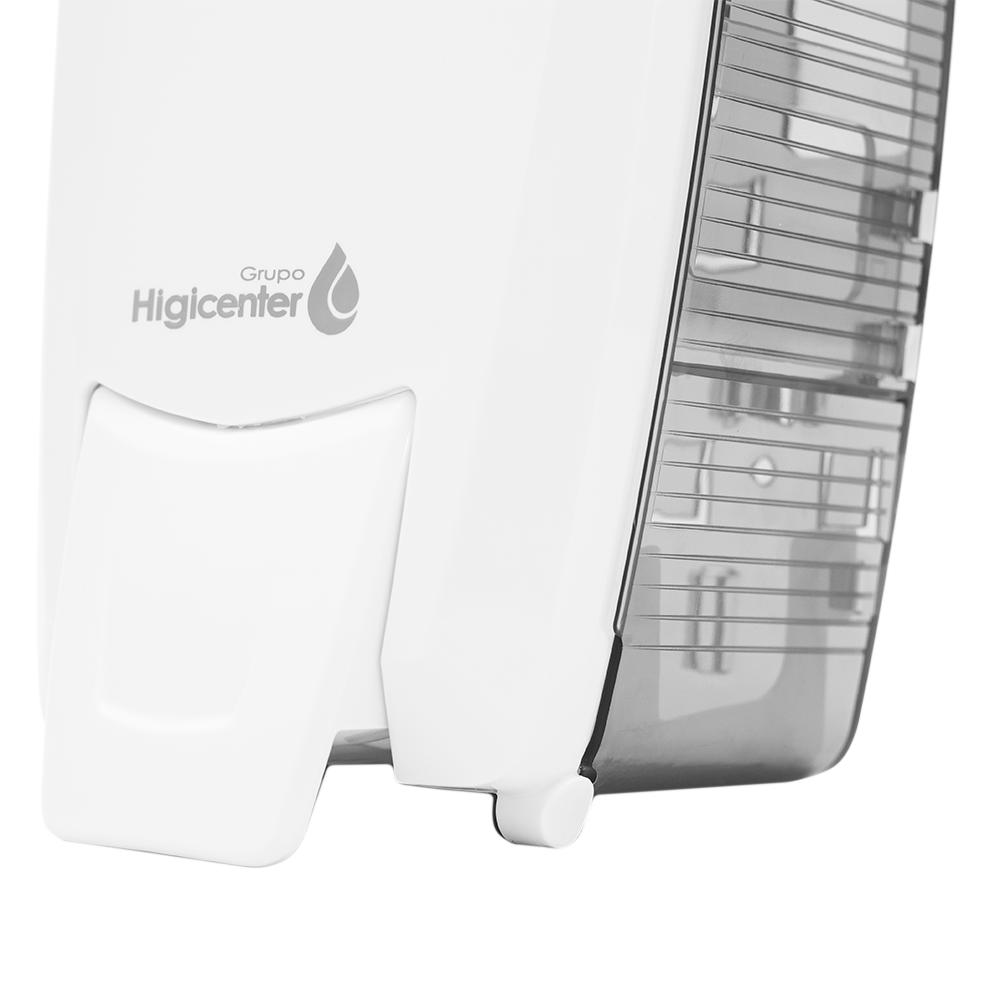 Dispenser Saboneteira Branco/Fumê Elisa  - Higinet