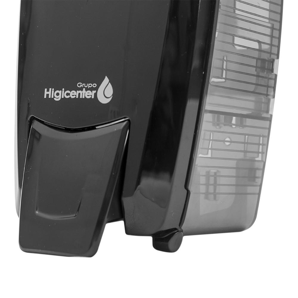 Dispenser Saboneteira Preto/Fumê Elisa  - Higinet