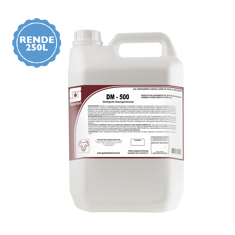 DM 500 detergente desengordurante 5 Litros Spartan  - Higinet