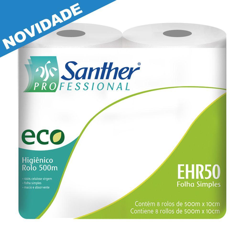 Papel Higiênico 8 Rolos com 500 metros cada - Santher EHR50  - Higinet