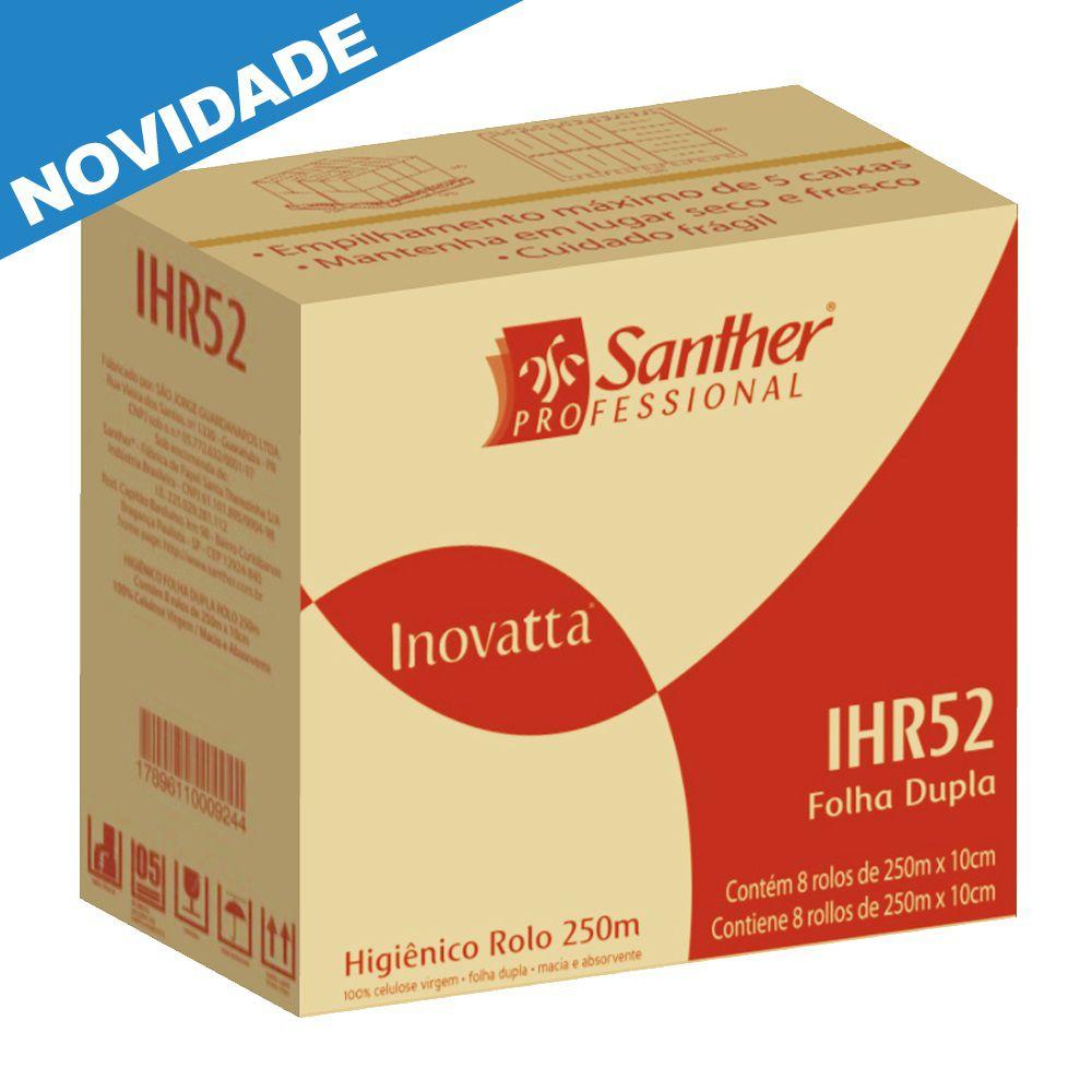 Papel Higiênico Folha DUPLA 8 rolos de 250 metros cada - Santher IHR25  - Higinet