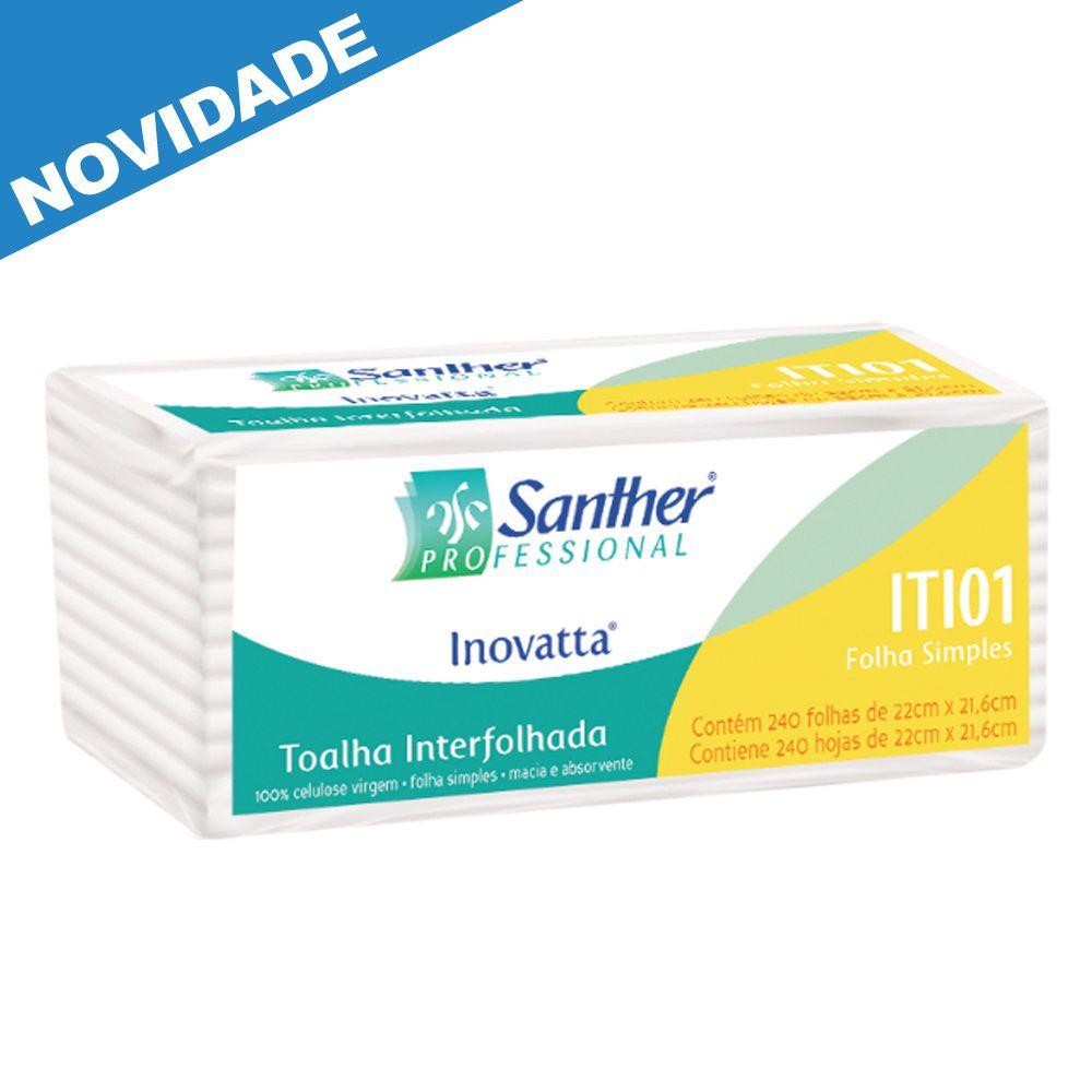 Papel Toalha Interfolha Folha Simples c/2400 folhas - Santher ITI01  - Higinet