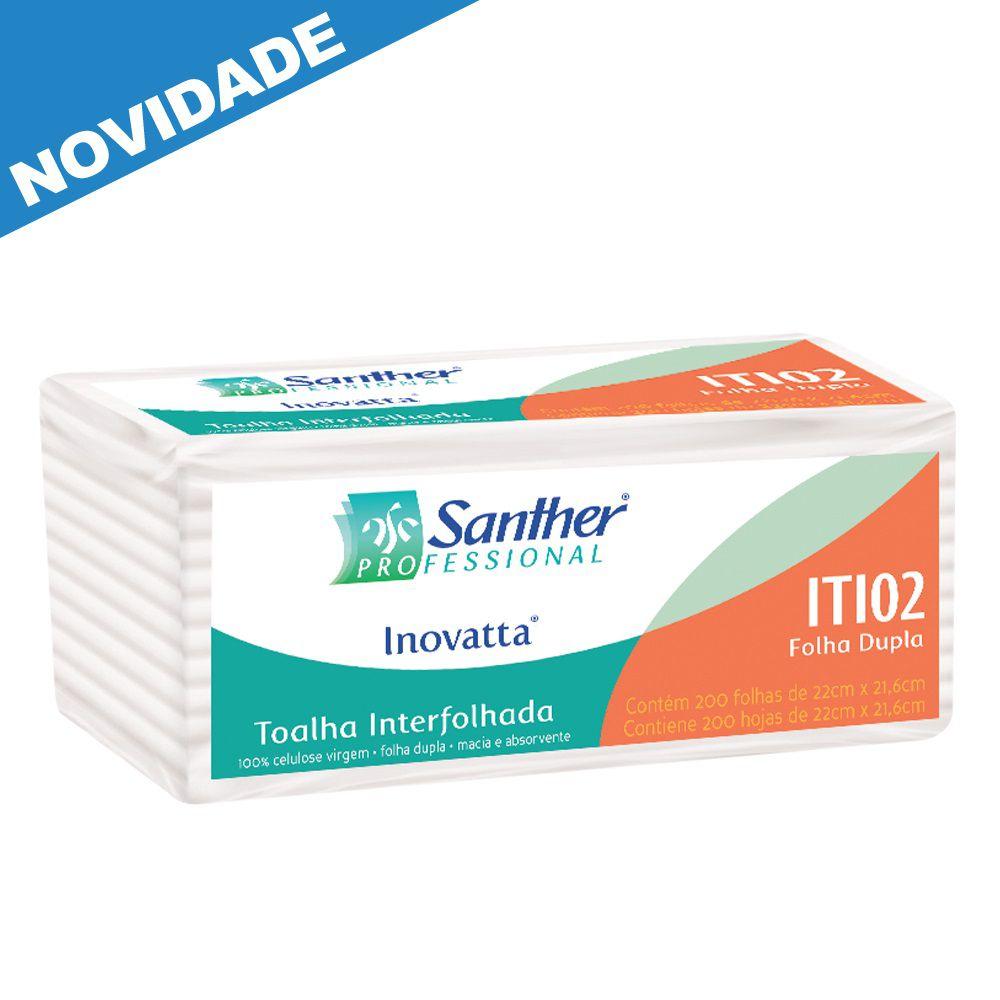 Papel Toalha Interfolha Folha DUPLA c/2400 folhas - Santher ITI02  - Higinet