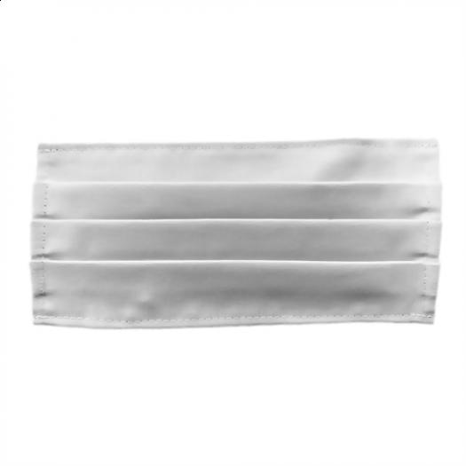 Máscara de Pano Dupla Branca - 100% Algodão Tam. Único  - Higinet