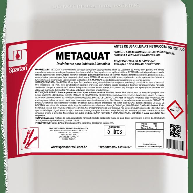 Metaquat desinfetante 5 Litros Spartan  - Higinet