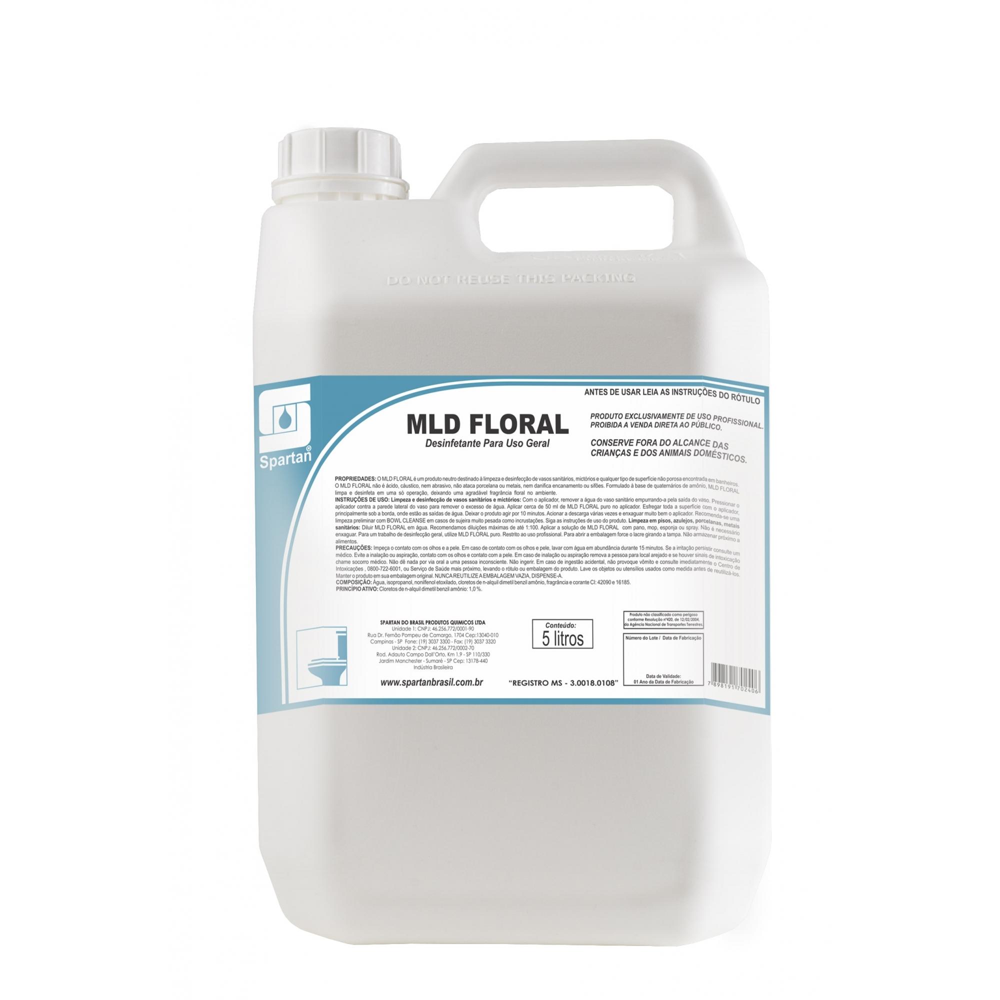 MLD Floral - Limpador + Desinfetante 5 Litros  - Higinet