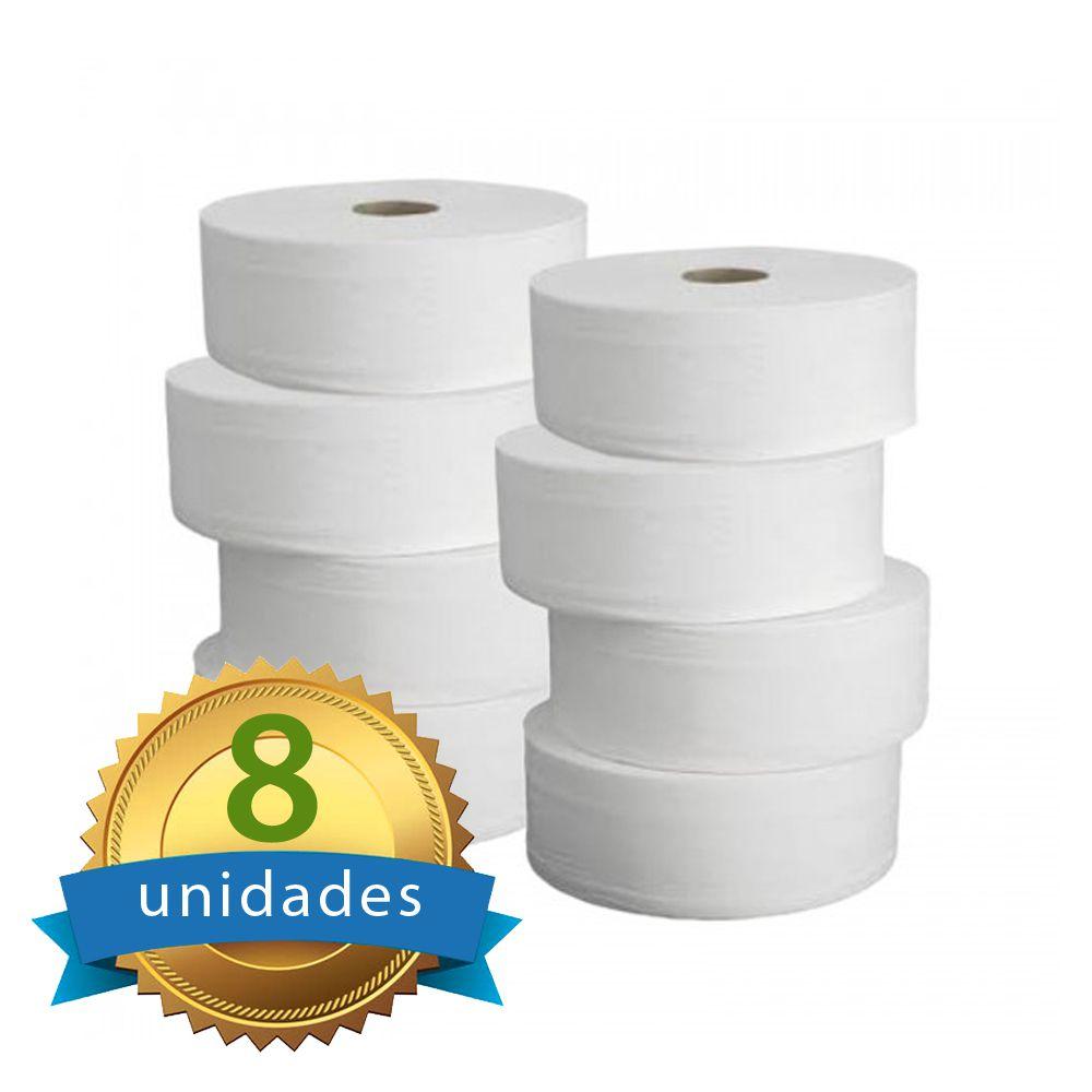 Papel Higienico Folha DUPLA 8 Rolos com 250 metros cada - Higipaper 100% Celulose  - Higinet