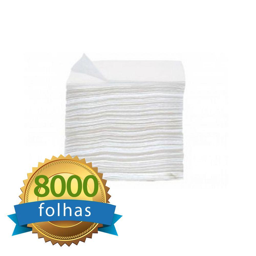 Papel Higiênico Intefolha Cai-Cai c/8.000 Folhas Duplas - Higipaper 100% Celulose IHI12   - Higinet