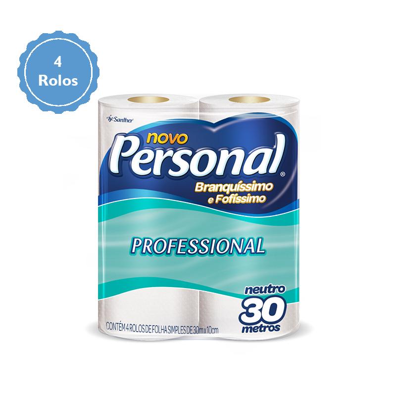 Papel Higiênico Personal Folha Simples c/4 Rolos Santher  - Higinet