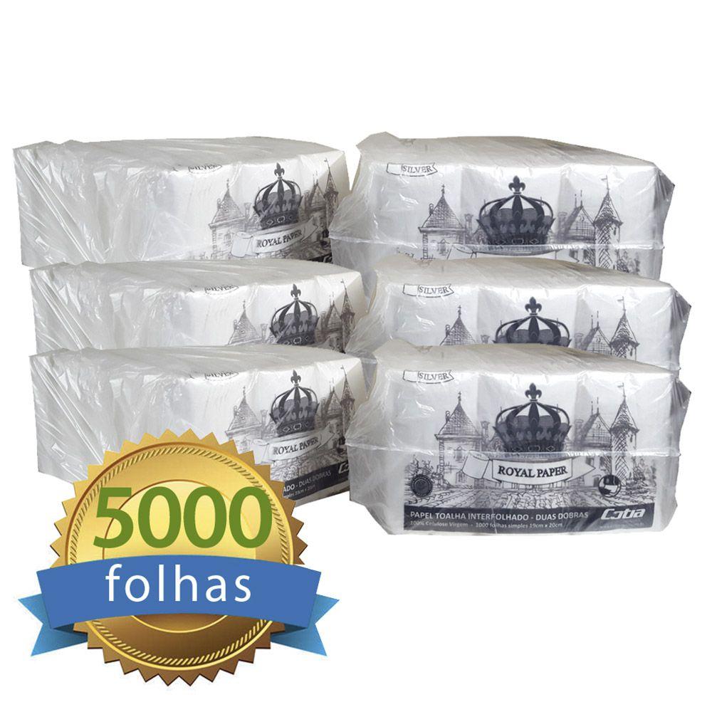 Papel Toalha Interfolhado 100% Celulose Folha Simples c/5000 folhas - Higipaper  - Higinet