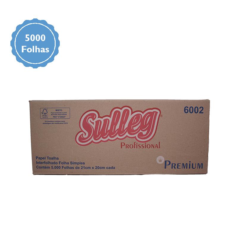 Papel Toalha Interfolhado 100% Celulose Folha Simples c/5000 folhas - Sulleg  - Higinet