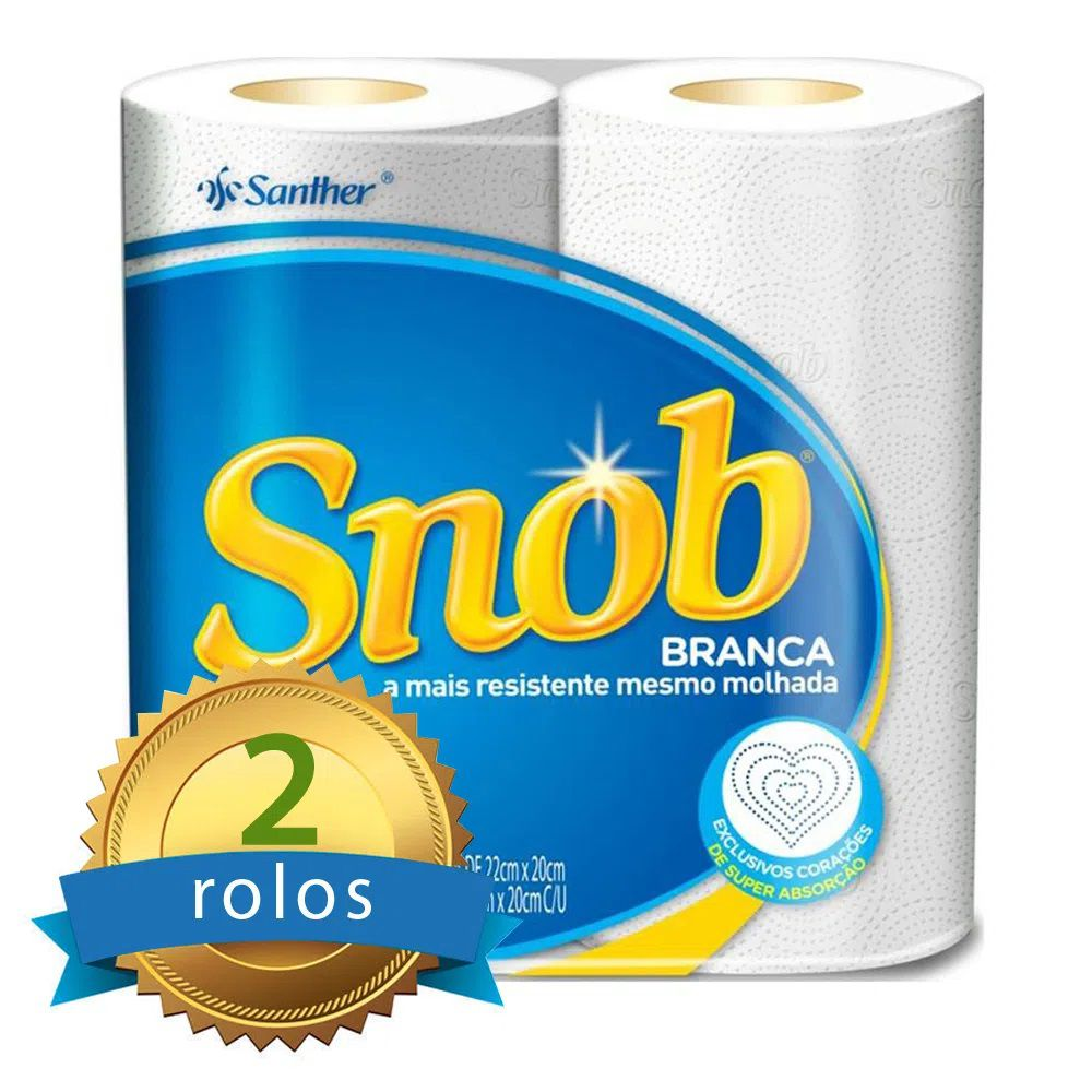 Papel Toalha de Cozinha SNOB c/2 Rolos  - Higinet