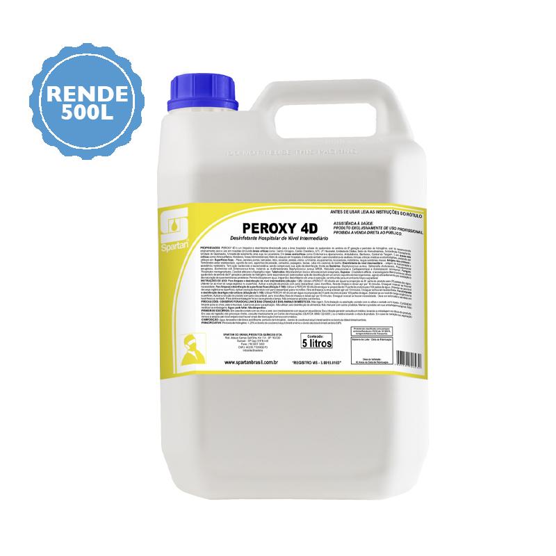 Peroxy 4D Desinfetante Nível Hospitalar 5 Litros Spartan  - Higinet