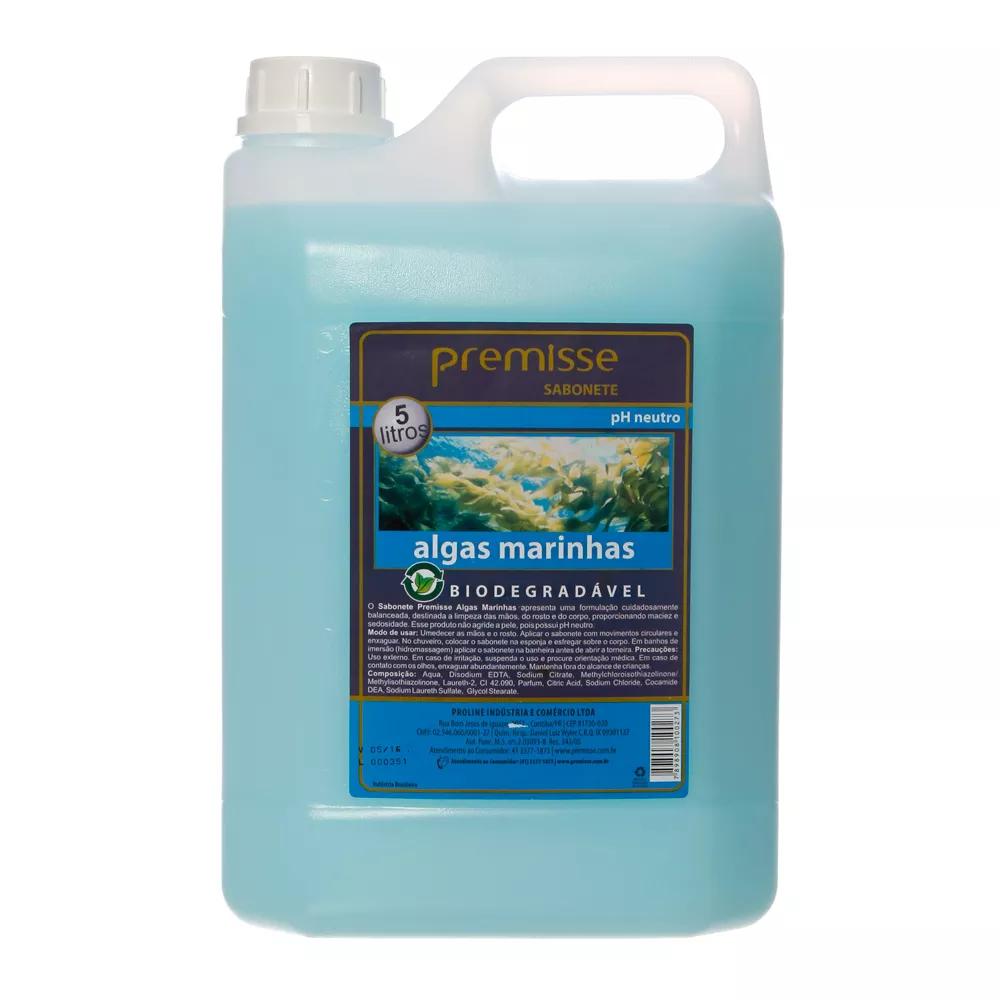 Sabonete Liquido Cosmético Premisse Algas Marinhas Galão 5 Litros  - Higinet