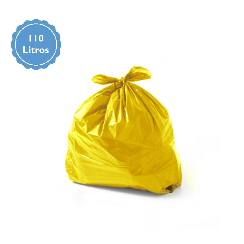 Saco para Lixo Capacidade 110 Litros (3Kg) - Amarelo  - Higinet