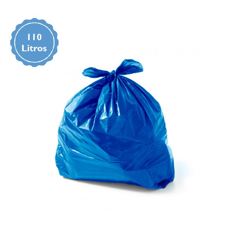 Saco Para Lixo Capacidade 110 Litros (3Kg P3) - Azul  - Higinet
