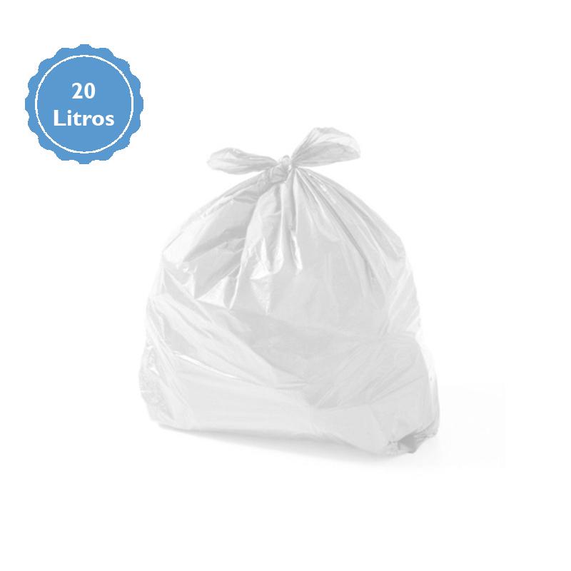 Saco Para Lixo Capacidade 20 Litros (1Kg P1) Branco  - Higinet