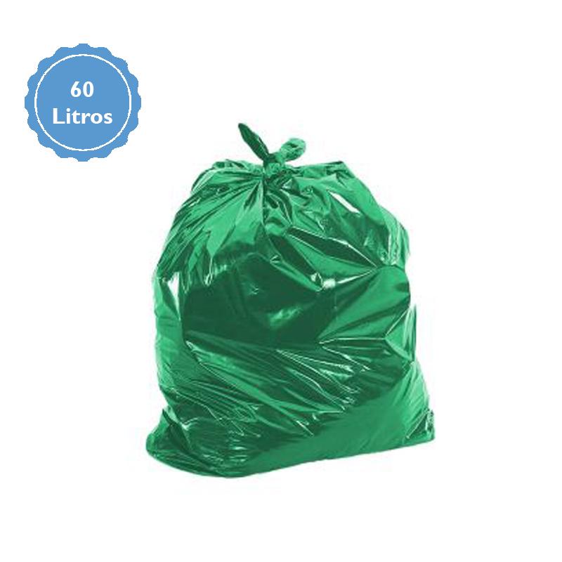 Saco Para Lixo Capacidade 60 Litros (2Kg P2) Verde  - Higinet