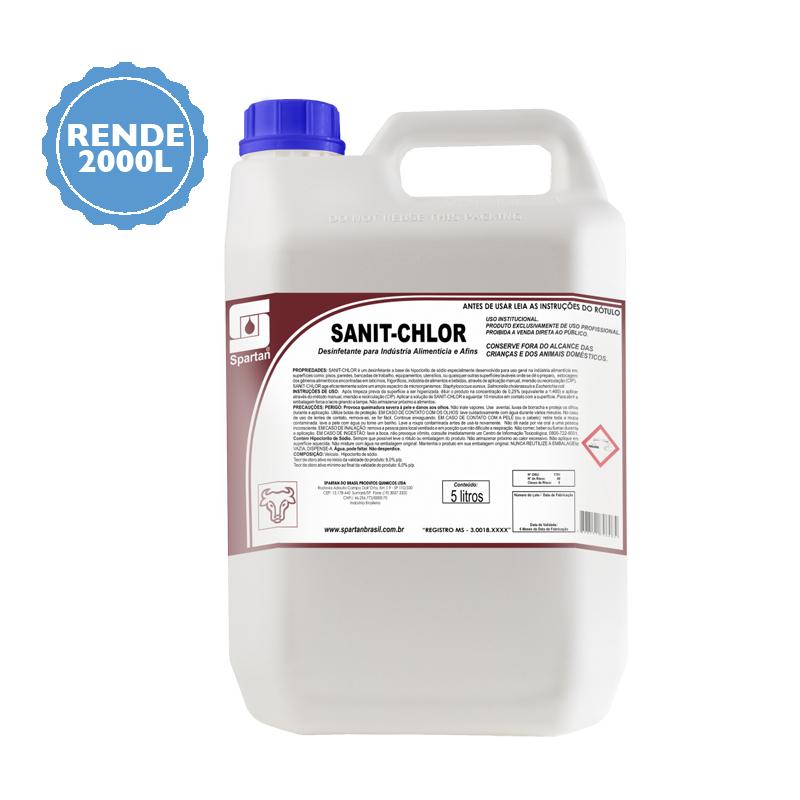 Sanit Chlor desinfetante 5 Litros Spartan  - Higinet