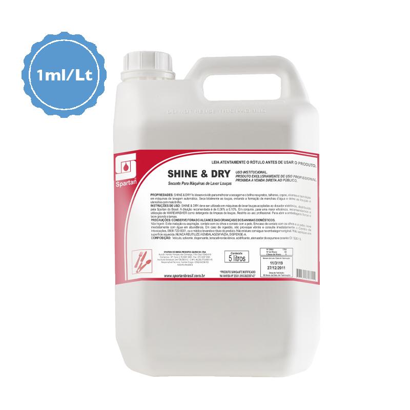 Shine & Dry Secante 5 Litros Spartan  - Higinet