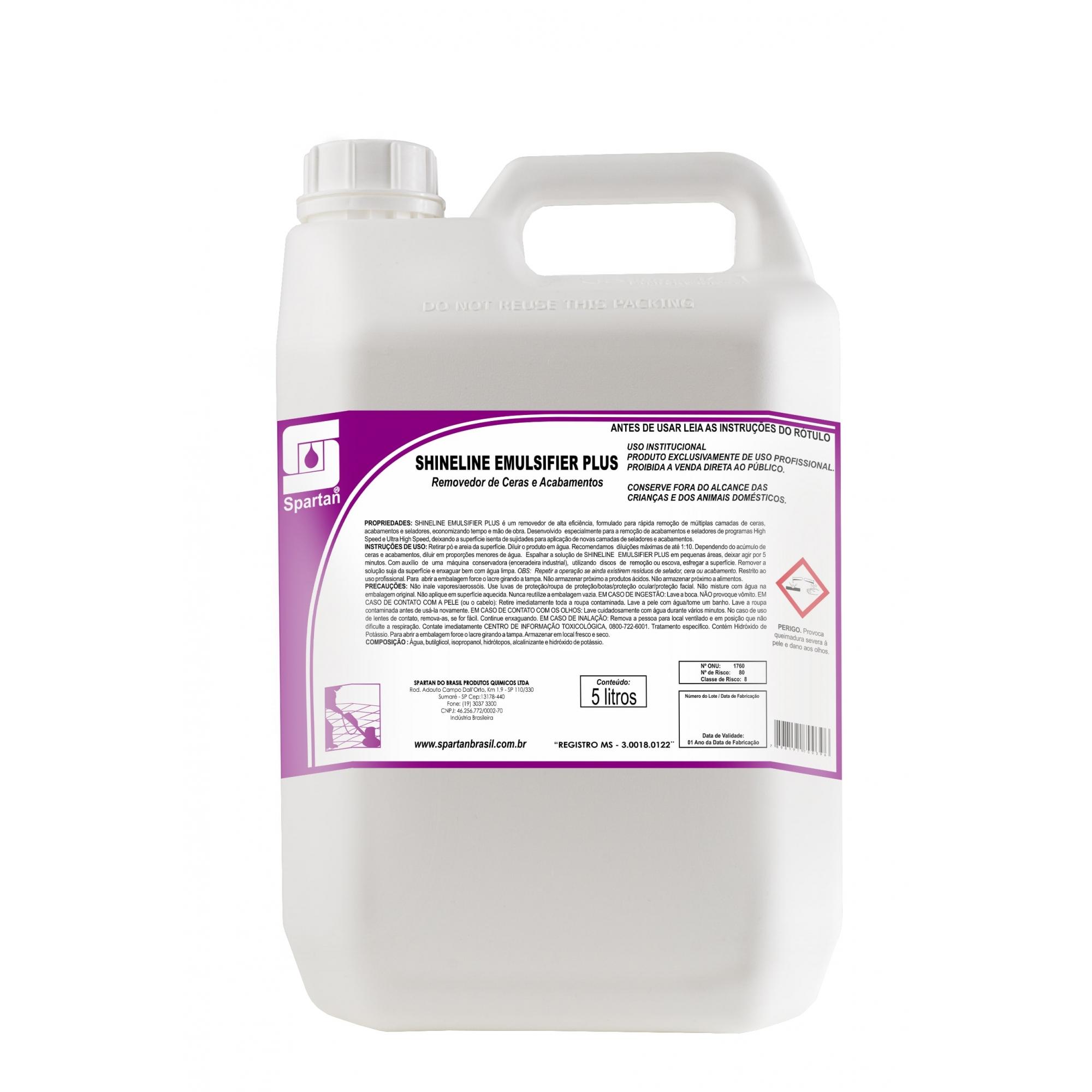 Shineline Emulsifier Plus Removedor 5 Litros Spartan  - Higinet