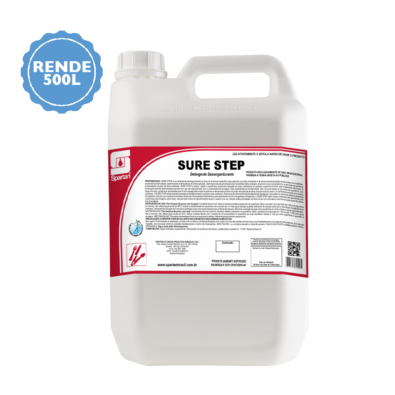 Sure Step Detergente desengordurante 5 Litros Spartan  - Higinet